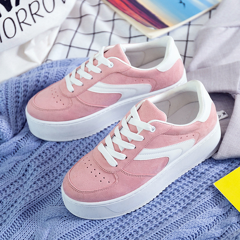 Fashion Platform Shoes Woman Spring Autumn New Women Casual Shoes Comfortable Breathable Sneakers Bottom Thick Women Shoes beffery summer shoes women genuine leather fashion casual white woman shoes platform thick bottom shoes woman sneakers