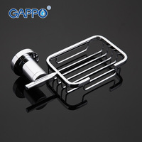 GAPPO 1SET High Quality Wall Mout Bathroom Soap Dish Holder Stainless Steel Restroom Soap Basket Soap
