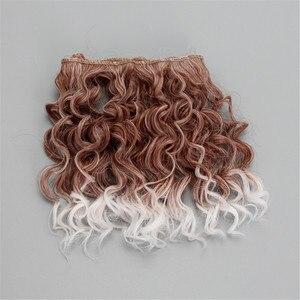 Image 5 - Extensão de cabelo encaracolado de 15*100cm, perucas de cabelo para todas as bonecas, fibra resistente ao calor