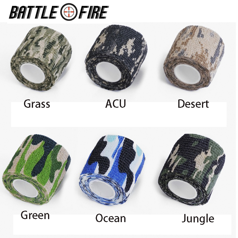 Free Shipping Tactical 1 Roll Men Army Adhesive Camouflage Tape Stealth Wrap Outdoor Hunting  Weapon Rifle Scope Cover