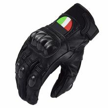 Motorcycle Carbon Fiber Protect Genuine Leather Gloves Racing Riding Touring Mens Downhill riding road team motosiklet