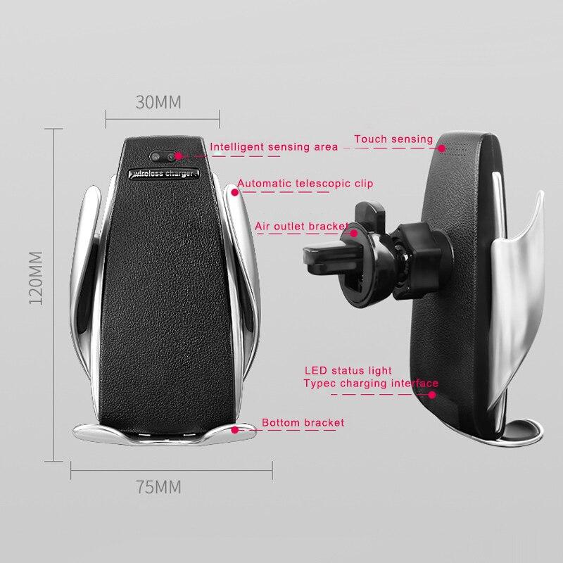 1 pcs Support Voiture Mont Chargeur Automatique De Serrage Avec Récepteur Pour Mobile Téléphone Accessoires De Voiture Voiture Style