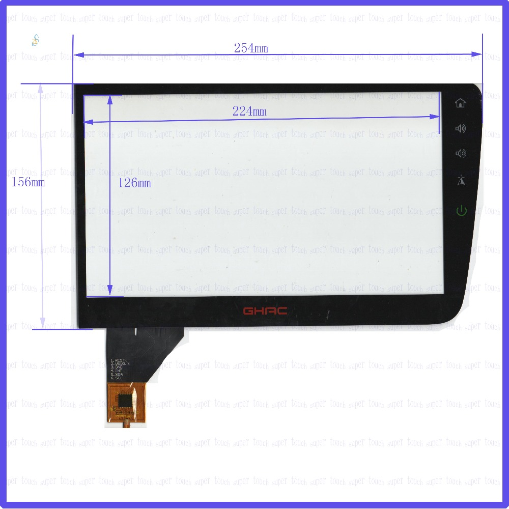 ZhiYuSun 170829 254mm*156mm Capacitive touch screen panel for Car DVD, 254*156 GPS screen glass zhiyusun new touch screen 364mm 216mm 15 6inch glass 364 216 for table and computer commercial use