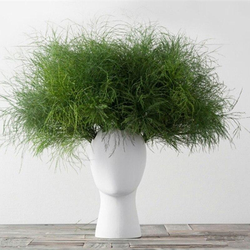 Nordic design Ceramic Vase Creative Fashion White Vase Wedding Home Decor Modern Porcelain Vase Figure Head