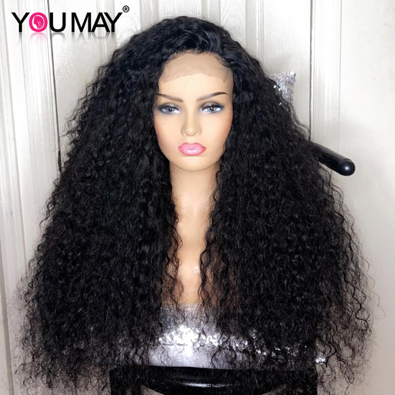 250 Density Lace Front Human Hair Wigs Brazilian Deep Wave Wig 13x4 Glueless Full End Lace
