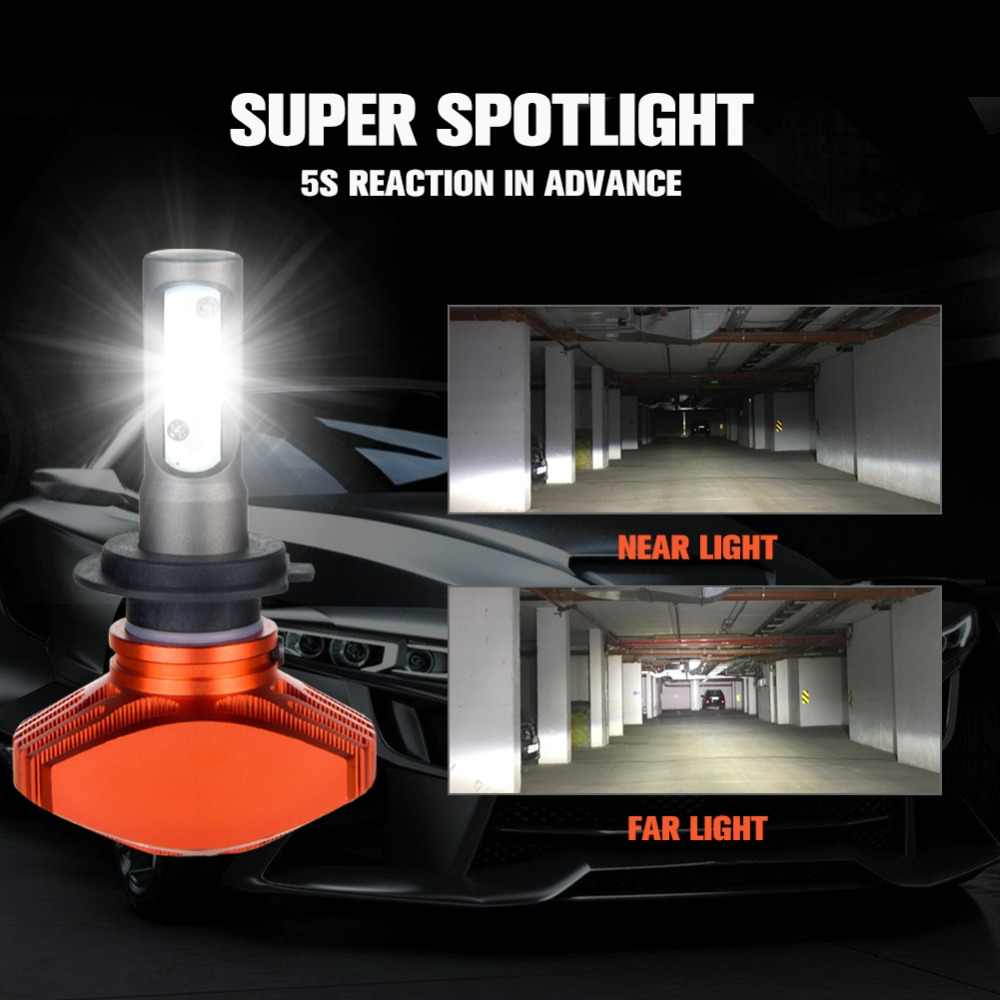 H3 LED 6500K White Car Bulbs 12V 9005/HB3 9006/HB4 CSP 80W LED H4 H7 H1 Auto Lamp For Mazda 3/2/cx-5/cx-3/323/Millenia/MX-5/MPV