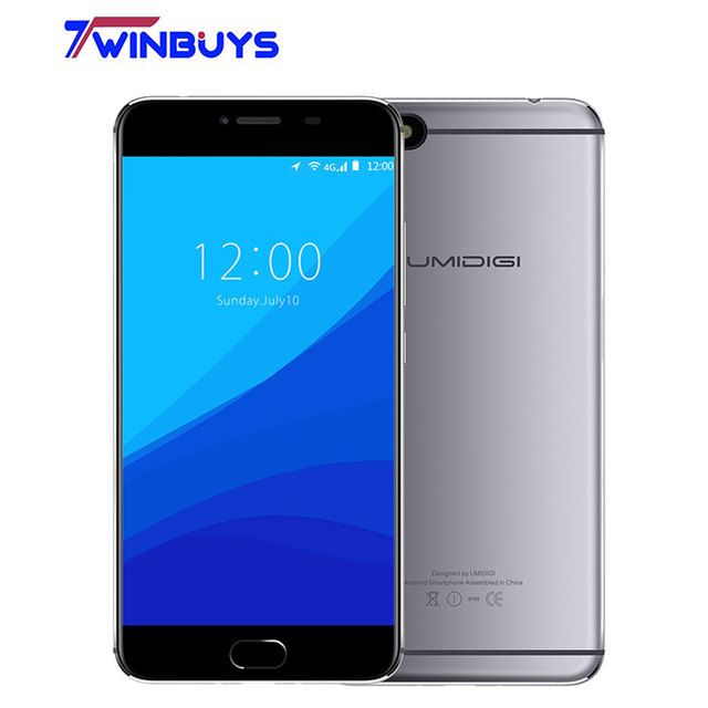 Umidigi C Note Android 7.0 Metal Smartphone Fingerprint Mobile Phone MTK MT6737T 3GB RAM 32GB ROM 3800Mah Auto-focus 4G Phone