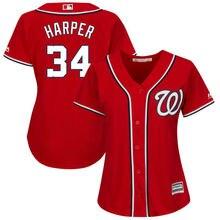 61b7e96f MLB Women's Washington Nationals Bryce Harper Alternate Scarlet Plus Size  Cool Base Player Jersey