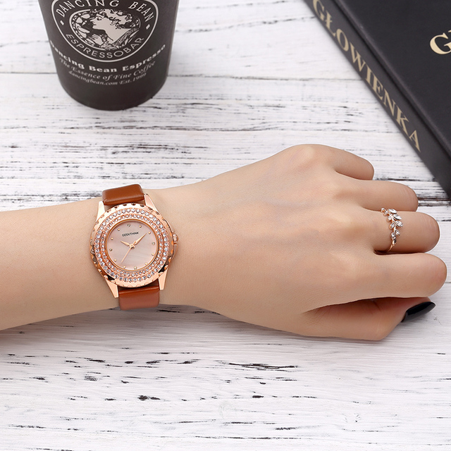 Danish design Glitter Diamond Analog Watch