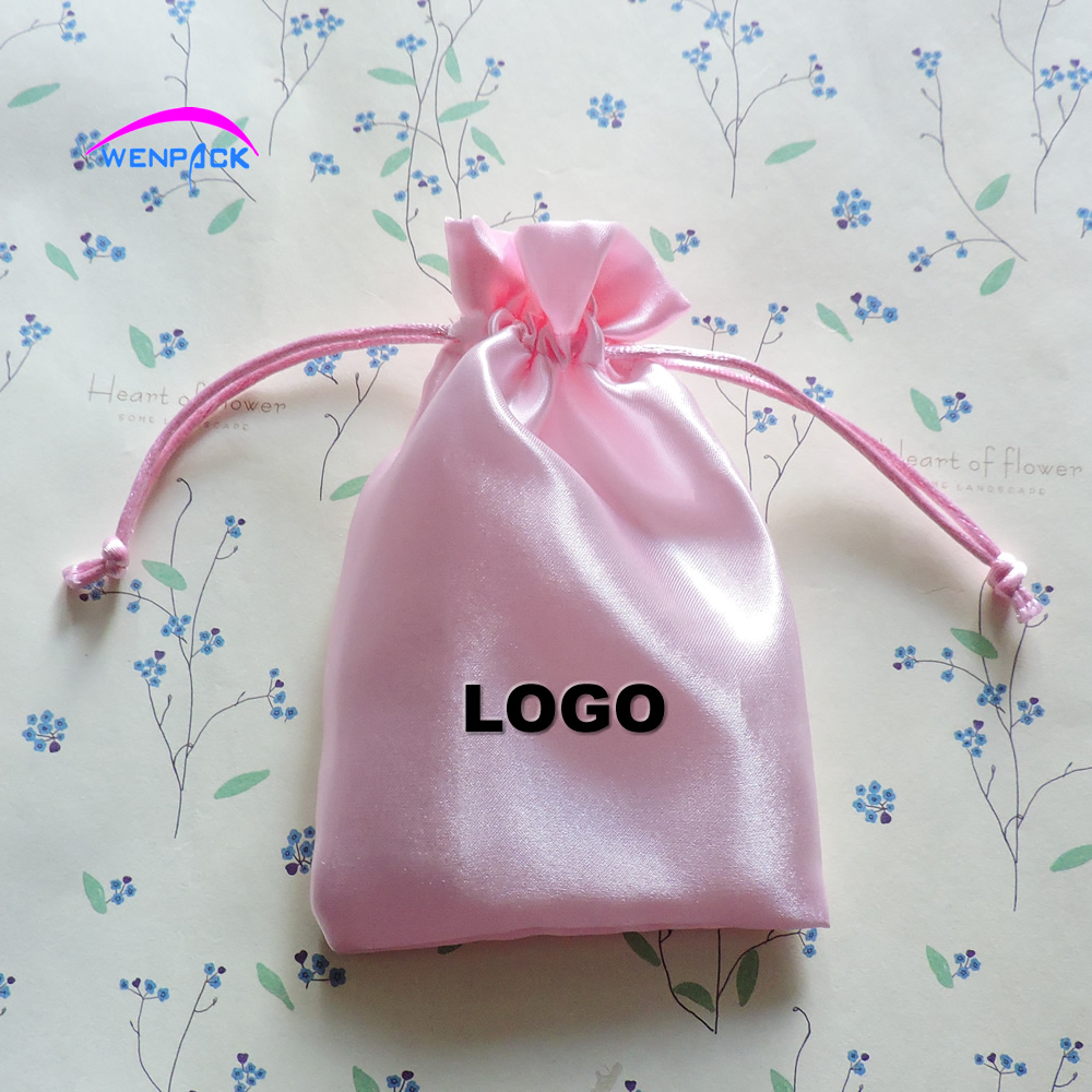 custom print logo gift satin pouch/packaging bag for jewellery