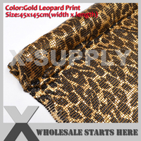 DHL Free Shipping Aluminum Metal Fabric Mesh 3mm Gold Leopard Print without Glue/For Bag,Shoe,Jeans,Decoration,Wedding,Clothing