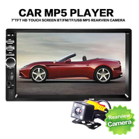 7 Inch 2DIN Car Audio Stereo Player Bluetooth V2.0 Car Radio Handsfree Call Touch Screen Car MP3 Player USB FM Radio With Camera