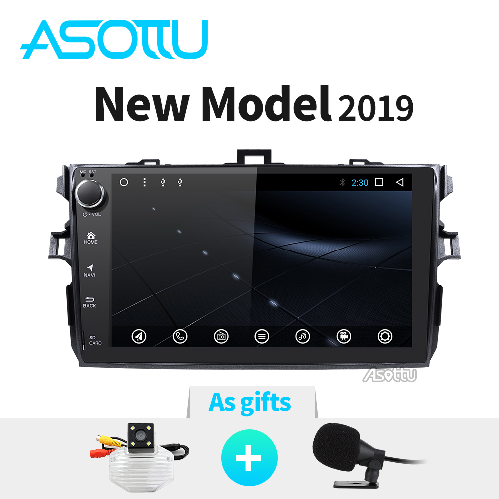 Asottu CLKLL9060 android 8 1 T8 car dvd gps navigation for Toyota corolla  2007 2008 2009 2010 2011 car dvd radio gps stereo