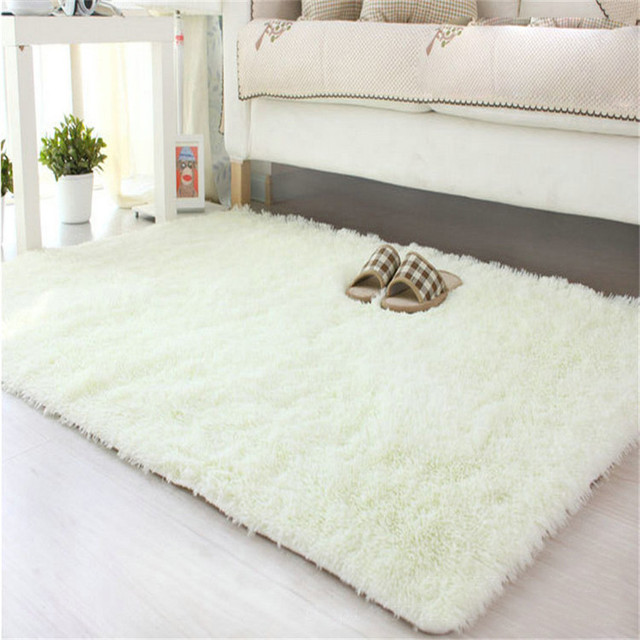 Soft Fluffy Rugs Anti Skid Shaggy Area Rug Dining Room Home Bedroom Carpet Floor 5080cm Carpets For Living Oct23