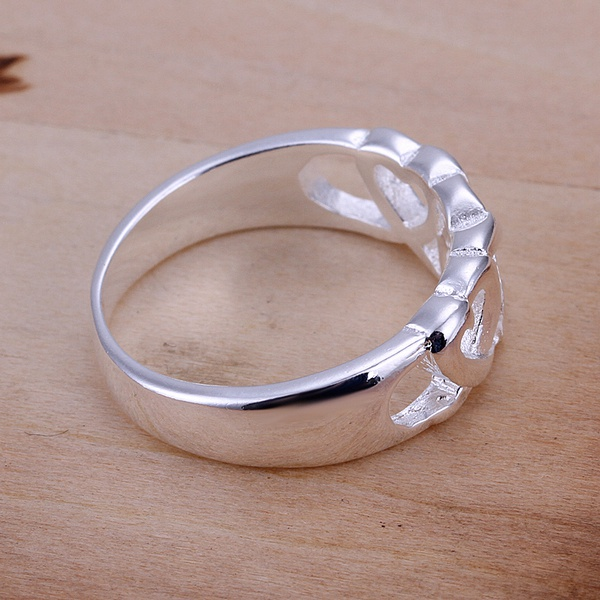 hot sell factory price Silver color Wedding weomen lady Ring , Jewelry nice cute charming fashion Free shipping R090 3