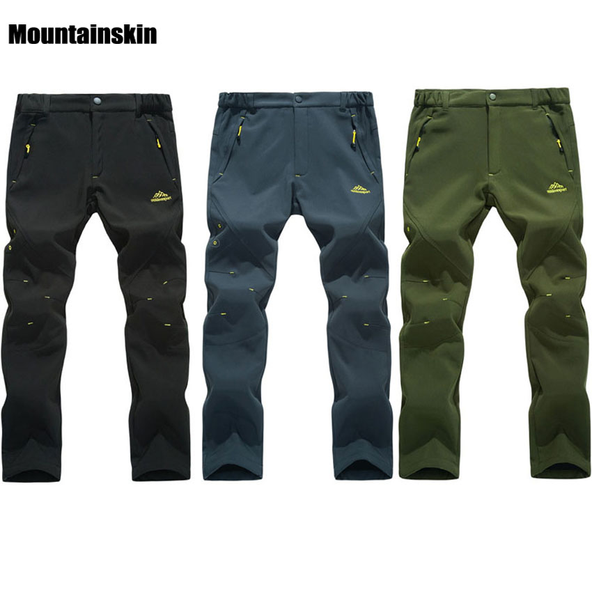 Men/'s Pants Waterproof Outdoor Camping Hiking Skiing Thicken Warm Trousers
