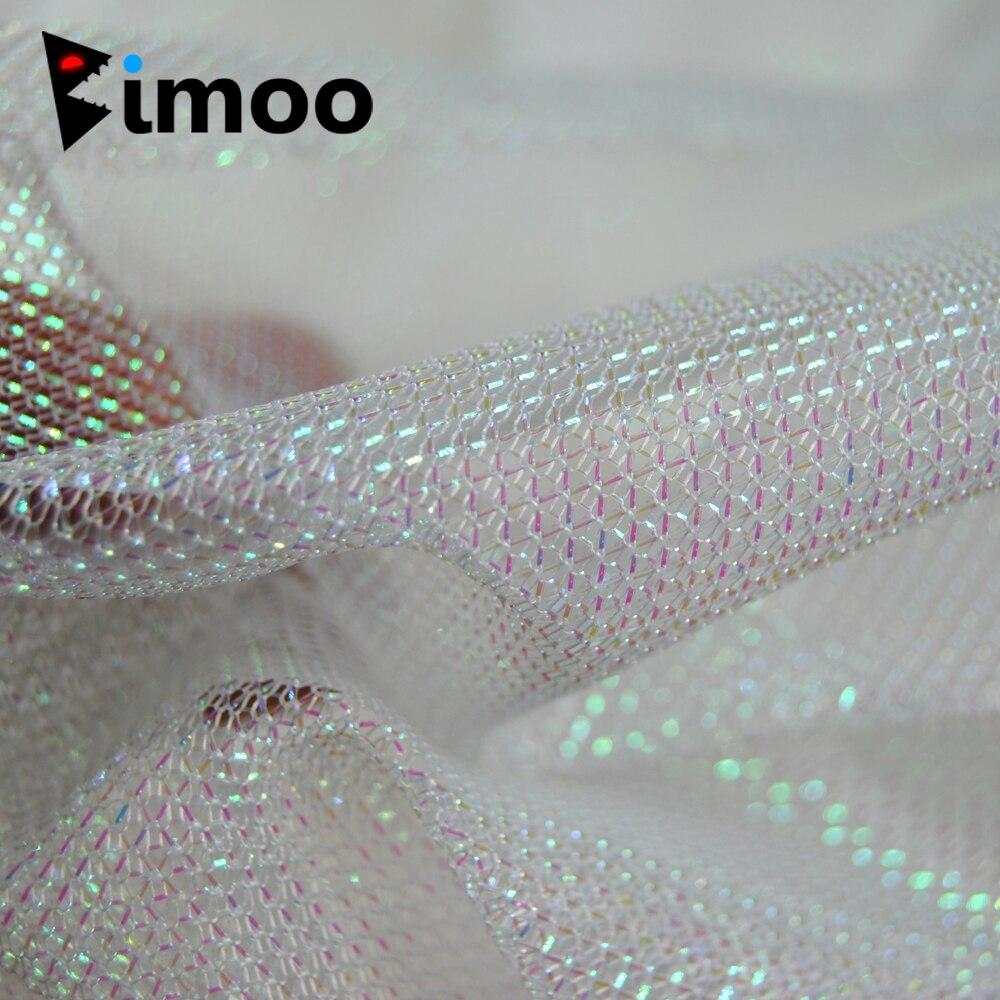 Bimoo 1 Yard Perle Weiß Gold Grün Rot Schwarz Silber Tintenfisch Jig Tuch Krake Tintenfisch Angeln Haken DIY Material