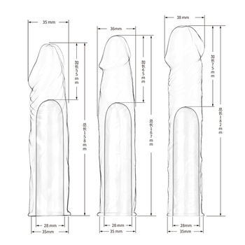 Man Nuo Huge Penis Extender Dildo Realistic Condoms for Men Penis Sleeve Reusable Condoms Extend 55 65 75mm Sex Toys condones R4 3