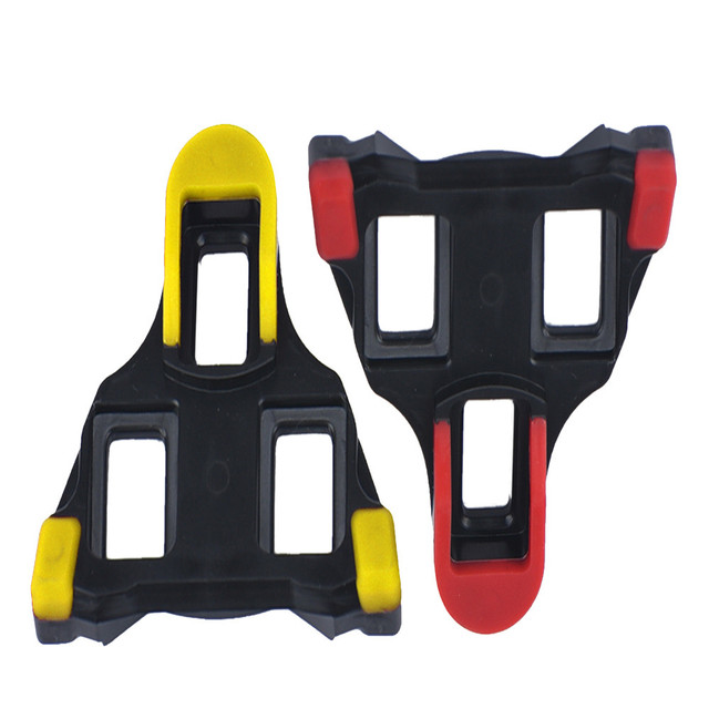 7d4949873 2018 2 x Bicycle Bike Self-locking Pedal Cleats Set Yellow For Shimano SM- SH11 SPD-SL for road Mountain Bike accessories  0824