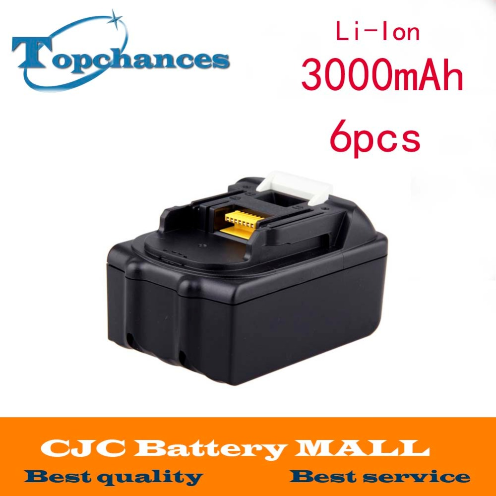 Free shipping 6pieces 18V 3Ah battery for Makita bl 1830 BML185 LXT600 LXT402 BHP451 подушка rose 50х70
