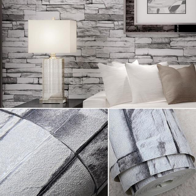 vivid 3d vintage faux stein ziegel tapete abnehmbare mauer muster tapete raumdekoration hintergrund 053 - Stein Muster Tapete