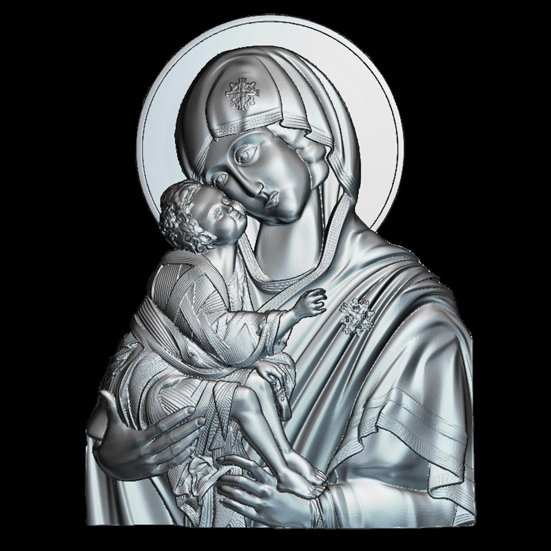 MaicaDomnului 3D model relief figure STL format Religion 3d model relief  for cnc in STL file format venerable nikita stylites pereslavsky 3d model relief figure stl format religion 3d model relief for cnc in stl file format