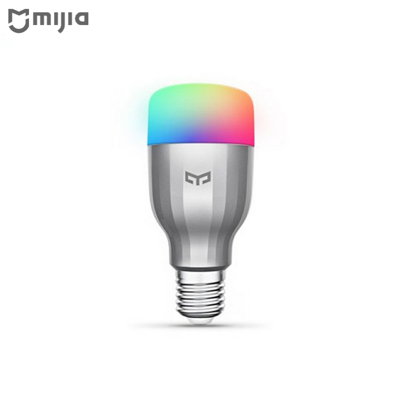 Original Xiaomi Yeelight RGB LED Smart Bulb Colorful version E27 9W 600 Lumens Mi Light WiFi Remote Control by Smart Phone mantra cocoon