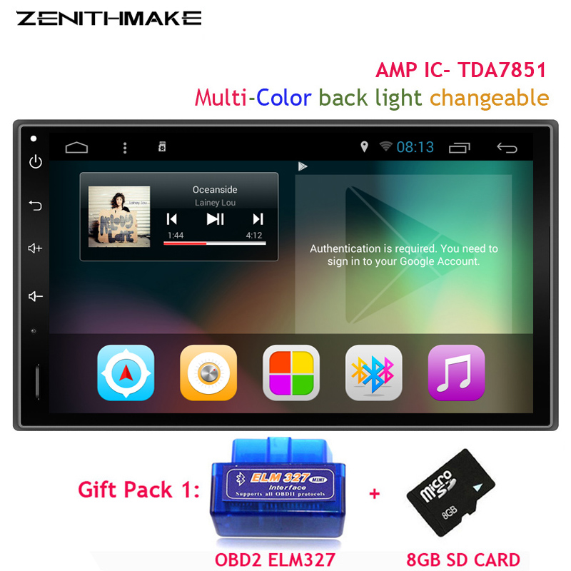 FreeShipping QuadCore 7 Double 2Din font b Android b font Car GPS Universal without DVD wifi