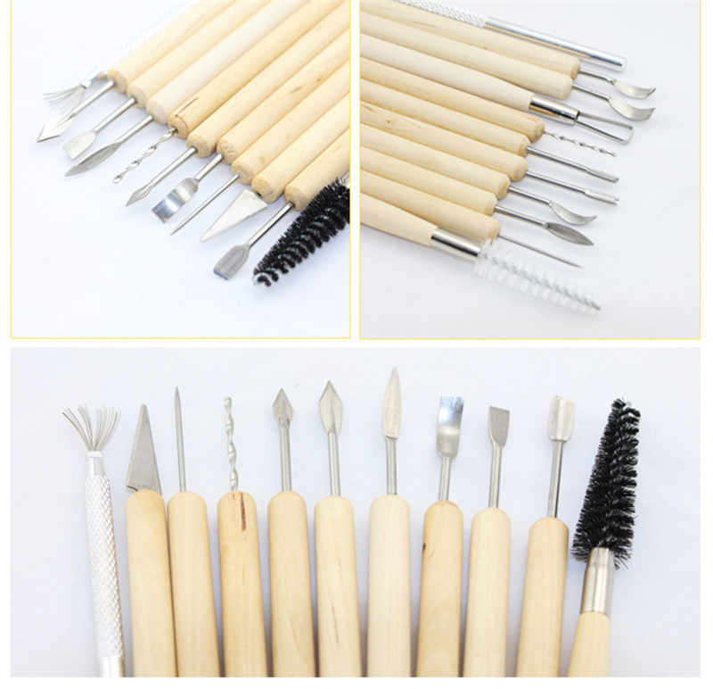 11pcs Clay Sculpting Kit Sculpt Smoothing Wax Carving Pottery Ceramic Tools Polymer Shapers Modeling Carved Tool Perfect