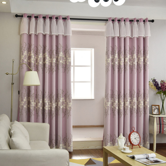 Princess Pink Curtains For Living Room Bedroom Kids Window Tulle And Decorative Curtain