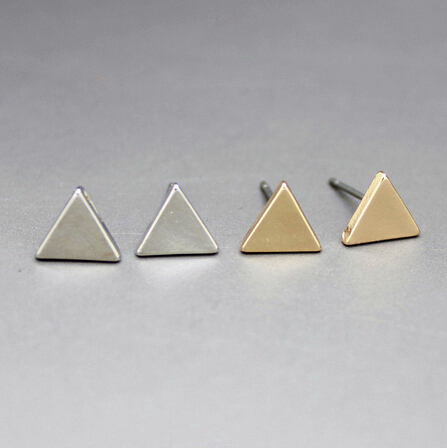 Triangle Square Round studs earrings