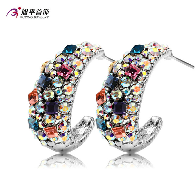 High Quality Top Sale Crystal from Swarovski Xuping Fashion Earring Colorful Color Plated Charm for Women Gift XE2251