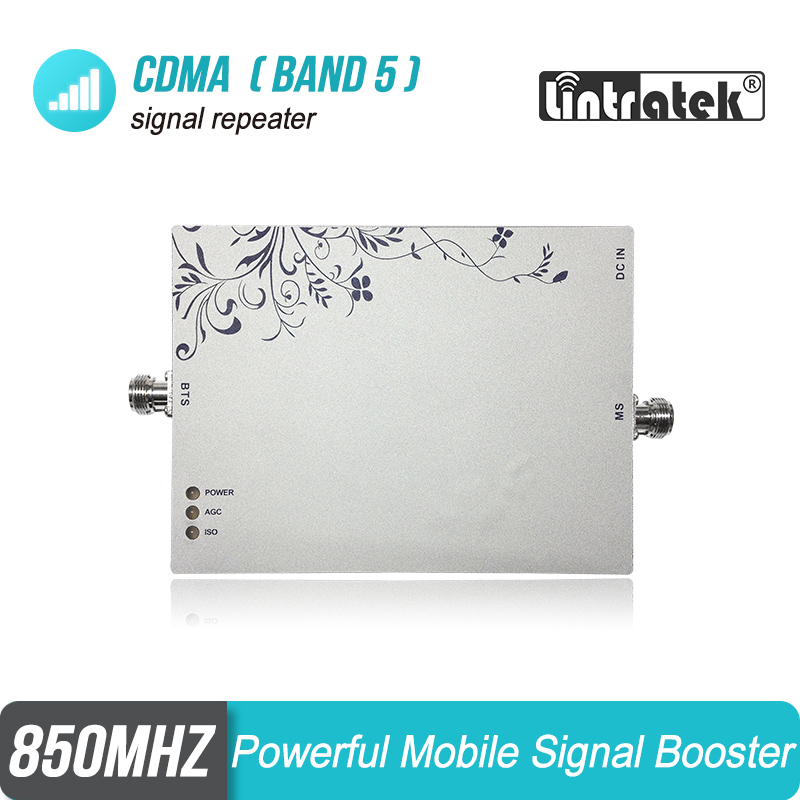 Powerful 75dB Gain 2G CDMA 850MHz Cellphone Signal Booster MGC GSM UMTS 850 Repeater Amplifier Repetidor Cellular (Band 5) #34