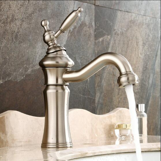 New arrival high quality cold and hot single lever bathroom sink faucet nickel basin faucet with 50cm plumbing hose water tap new arrival tall bathroom sink faucet mixer cold and hot kitchen tap single hole water tap kitchen faucet torneira cozinha