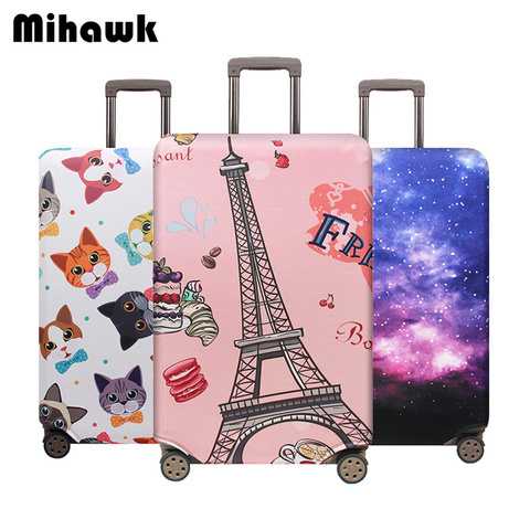 Mihawk Unisex Travel Suitcase Protective Cover Trolley Thicker Dustproof Luggage Case Baggage Pouch Zipper Traveling Accessoires Pakistan