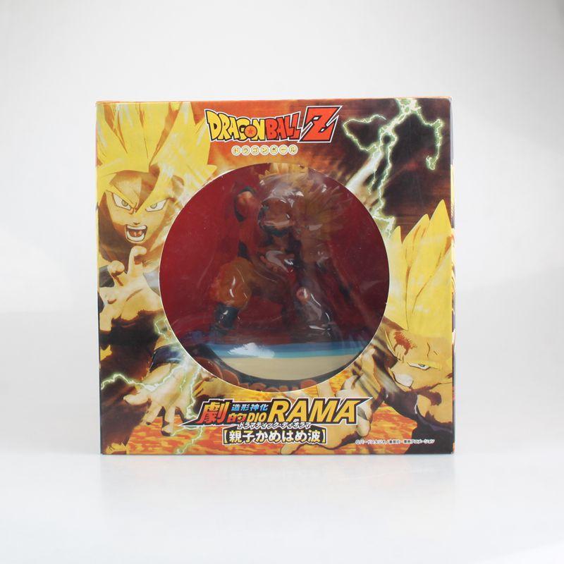 HKXZM Anime 17 CM Dragon Ball Z Super Saiyan fils Goku & Gohan père et fils Kamehameha PVC Figure de collection modèle jouet cadeau - 5