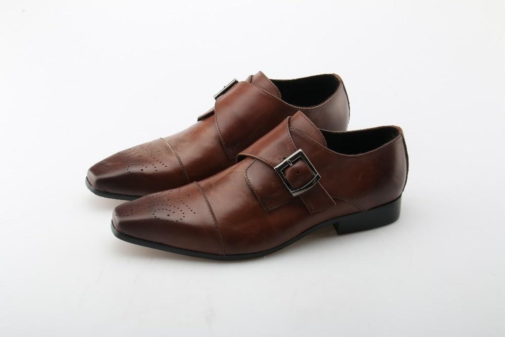 Zapatos De Picture Marrón Brogue Toe Negro Hebilla Choo As Negocios Calzado Monje Correa Oficina Picture Square as Eunice Hombre Cuero 6YqSTw