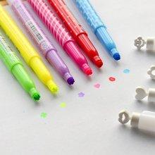 6 шт./компл. милый Южная Корея канцелярские печать люминесцентные ручка творческий Маркер желе конфеты цвет маркер цвет пера