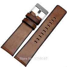 Retro Cowhide Genuine Leather Watch Strap Band Bracelet 24mm  Straight Mouth General Watchband + Tools стоимость