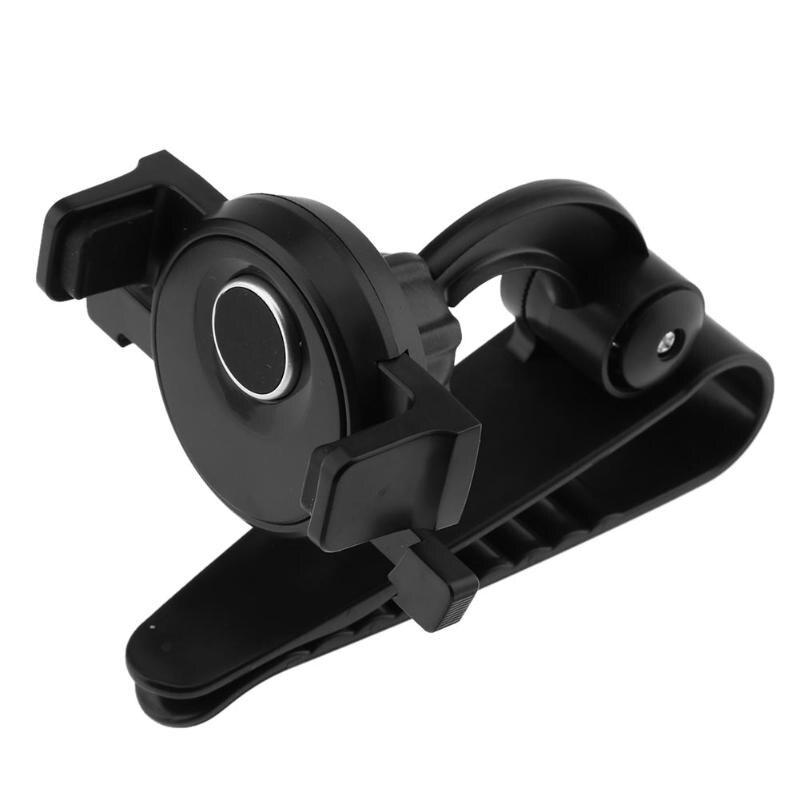 Universal 360 Degree Rotation Car Sun Visor Holder for Mobile Phone GPS Stand Bracket Support Mount for 3.5-5.5 Phones GPS