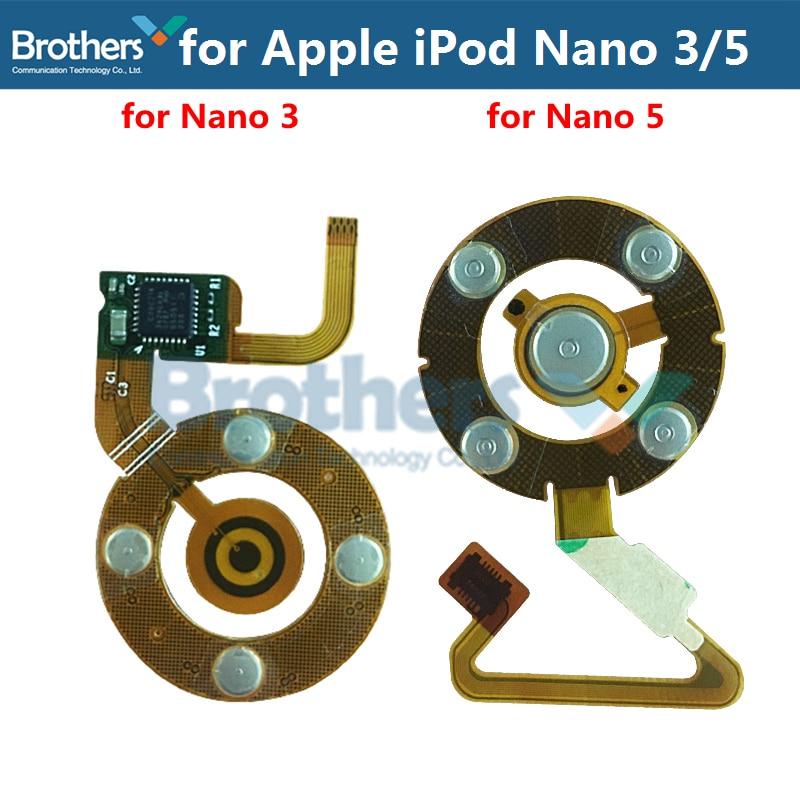 For Apple IPod Nano 3 Nano 5 Click Wheel Flex Cable Headphone Jack Flex Cable For IPod Nano 5 Central Button Flex Cable Test Top