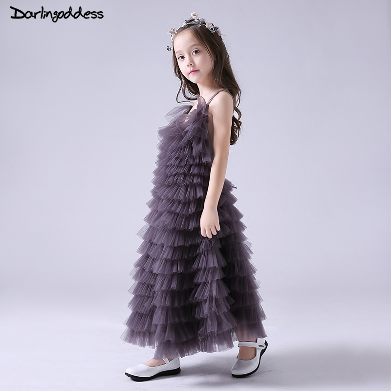 2018 Luxury   Flower     Girls     Dresses   for Weddings Baby Kids Pageant Birthday Party   Dresses   Sexy Backless First Holy Communion Gowns
