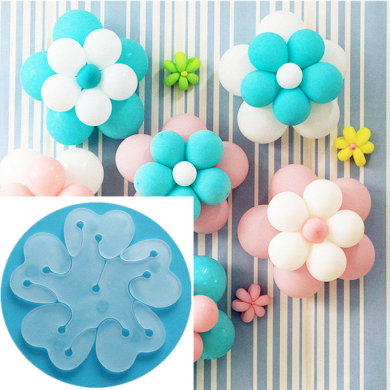 5Pcs Flower Balloons Accessories Plum Clip Decoration Practical Happy Birthday Wedding Party Babyshower Decor Supplies Plastic in Ballons Accessories from Home Garden