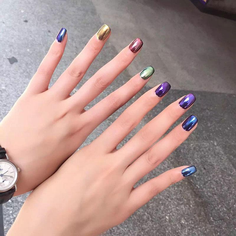 CANNI Nail Salon completo 2G Espejo Polvo 6 Color Para uñas ...