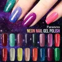 Paraness Lucky Colorful Neon UV 8ml Gel Polish Nail Art Shiny Color UV Gel Nail Polish Removable Soak off Gel Lacquer