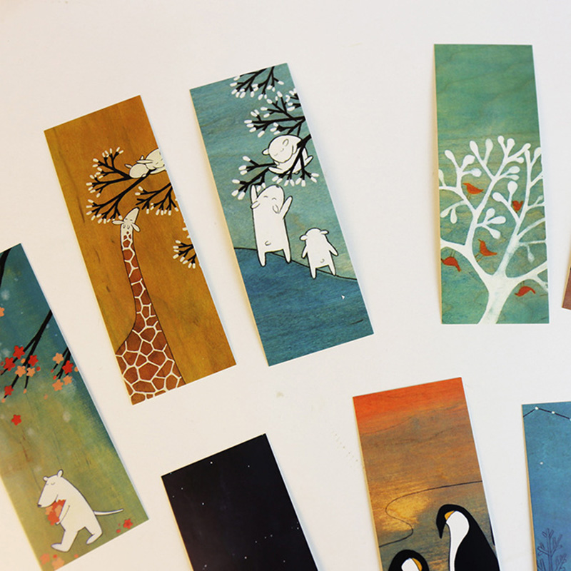 30Pcs Novely Classical Bookmarks Paper Book Marks Retro Landscape Bookmarks For Kids Girls Gifts School Supplies Stationery