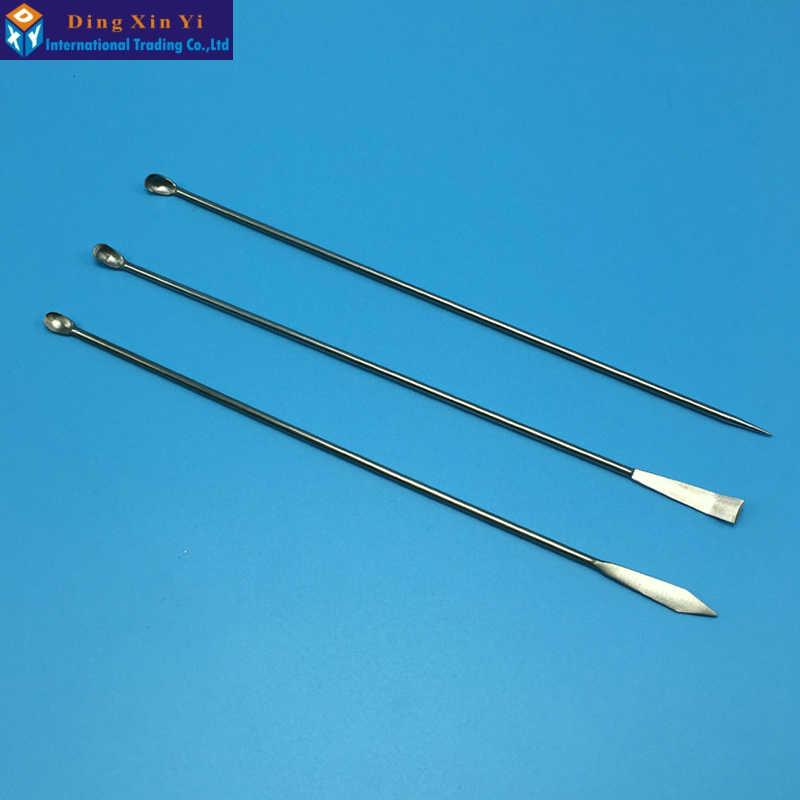 Free Shipping Lab Spoon/ Spatula Microspatulas Stainless Steel 3pcs/set
