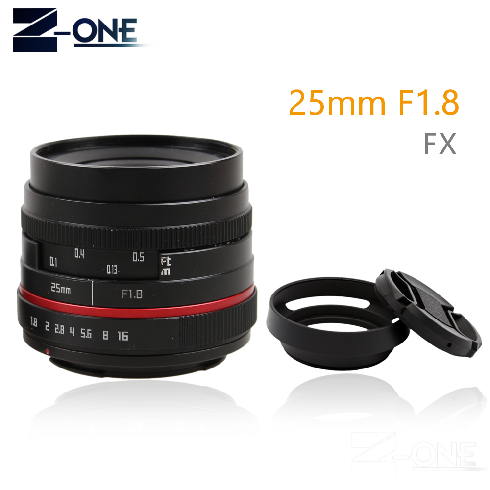 Red 25mm 25 F1.8 Manual Wide Angle Lens+Lens hood for Fuji lens Fujifilm X-E2 X-E1 X-Pro1 X-Pro2 X-M1 X-A3 X-A2 X-A1 X-T1 C-FX 3 5m vinyl custom photography backdrops prop indoor theme studio background gc 5618