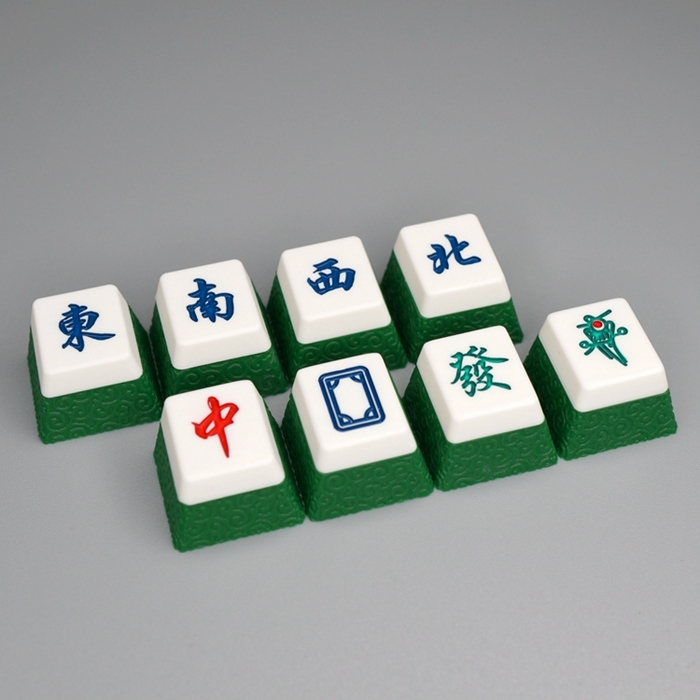 Handmade Mahjong Resin Key Cap For Mechanical Keyboard Chinoiserie Keycap OEM Profile R4 Height
