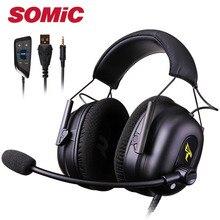 Auriculares para videojuegos con micrófono, USB, 3,5 MM, PC, teléfono, ordenador, PS4, Xbox, gamer, marca Original Somic G936N